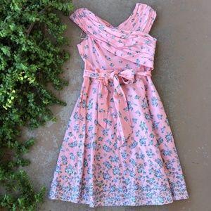 Gal Meets Glam Lillian Blush Floral A-Line Dress
